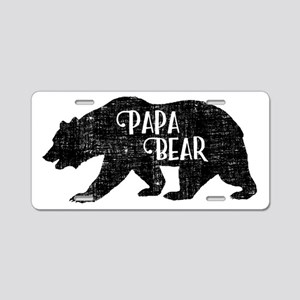 Papa Bear - Family Shirts Aluminum License Plate